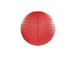 PartyDeco Kerek papír lampion - piros 20 cm