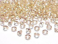 PartyDeco Konfetti - arany gyémánt 12 mm