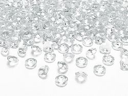 PartyDeco Konfetti - átlátszó gyémánt 12 mm