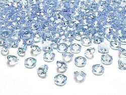PartyDeco Konfetti - égszínkék gyémánt 12 mm