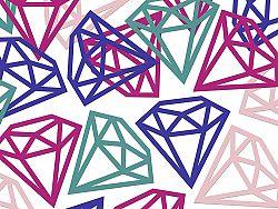 PartyDeco Konfetti - gyémántok 12 db