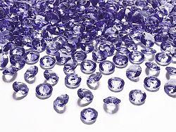 PartyDeco Konfetti - lila gyémánt 12 mm