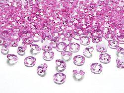 PartyDeco Konfetti - rózsaszín gyémánt 12 mm