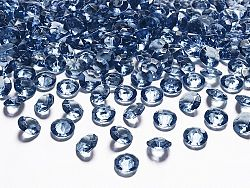 PartyDeco Konfetti - sötét kék gyémánt 12 mm