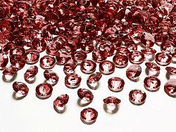 PartyDeco Konfetti - sötét piros gyémánt 12 mm
