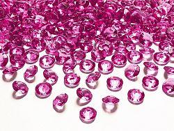 PartyDeco Konfetti - sötét rózsaszín gyémánt 12 mm