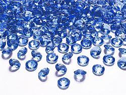 PartyDeco Konfetti - tengerészkék gyémánt 12 mm