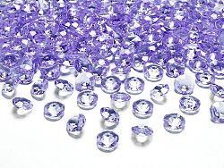 PartyDeco Konfetti - világos lila gyémánt 12 mm