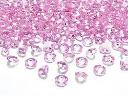 PartyDeco Konfetti - világos rózsaszín gyémánt 12 mm