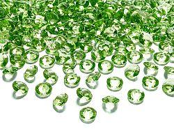 PartyDeco Konfetti - világos zöld gyémánt 12 mm