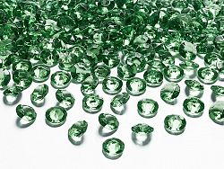 PartyDeco Konfetti - zöld gyémánt 12 mm
