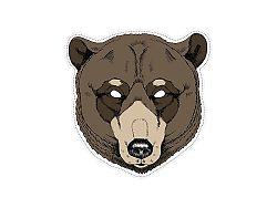 PartyDeco Maszk - medve