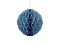 PartyDeco Papír gömb - kék 20 cm