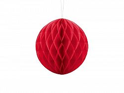 PartyDeco Papír gömb - piros 20 cm