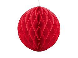 PartyDeco Papír gömb - piros 30 cm
