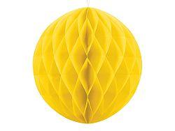 PartyDeco Papír gömb - sárga 40 cm