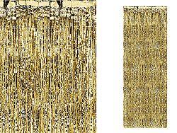 PartyDeco Party függöny - arany 90 x 250 cm