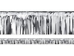 PartyDeco Party függöny - ezüst 18,5 x 400 cm
