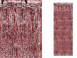 PartyDeco Party függöny - piros 90 x 250 cm