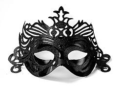 PartyDeco Party maszk díszítéssel - fekete