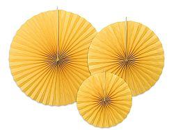 PartyDeco Rozetták - sárga 3 db