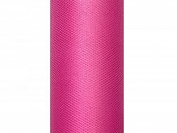 PartyDeco Sima tüll - rózsaszín 0,3 x 9 m
