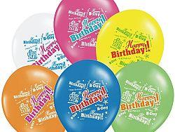 PartyDeco Születésnapi lufi - Happy Birthday 30 cm