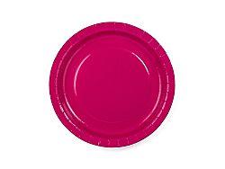 PartyDeco Tányérok - sötét rózsaszín 6 db