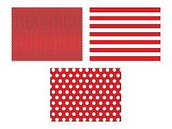 PartyDeco Teríték - papír, piros 6 db