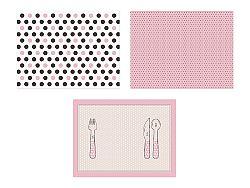 PartyDeco Teríték - papír, rózsaszín 6 db