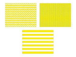 PartyDeco Teríték - papír, sárga 6 db