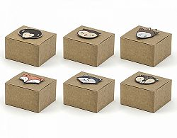 PartyDeco Woodland ajándék dobozok 6 db
