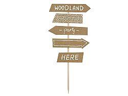 PartyDeco Woodland útirányjelző tábla dekoráció