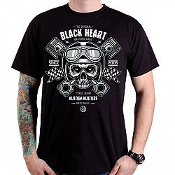Póló BLACK HEART Piston Skull