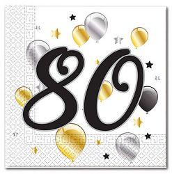 Procos Szalvéták - 80. születésnap - milestone 20 db