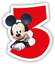 Procos Születésnapi gyertya - Mickey Mouse - 3-as szám