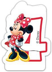 Procos Születésnapi gyertya - Minnie - 4-es szám