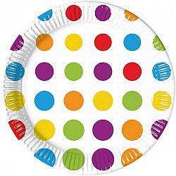 Procos Tányérok - színes pöttyökkel 8 db