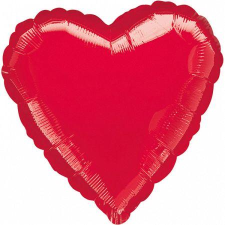 Amscan Jumbo fólia lufi - Piros szív