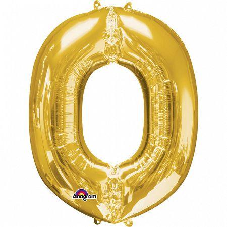 Amscan O betű fólia lufi 86 cm - arany