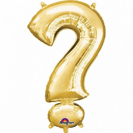 Amscan ? szimbólum mini fólia lufi 33 cm - arany