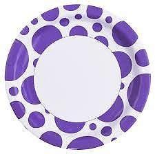 Amscan Tányérok - lila pöttyös 8 db