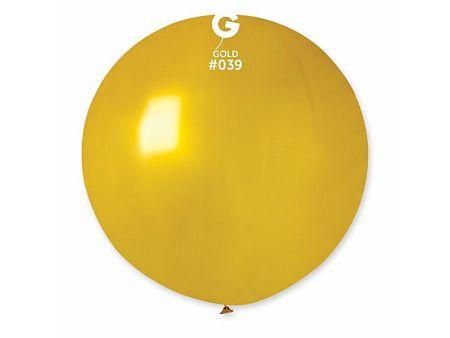 Gemar Gömb metál lufi 80 cm - arany