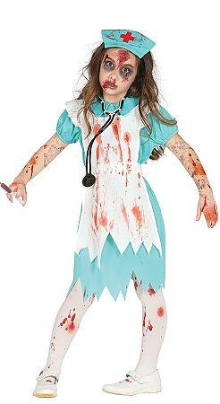 Guirca Gyermek jelmez - Zombi egészségügyi nővér Méret - gyermek: L