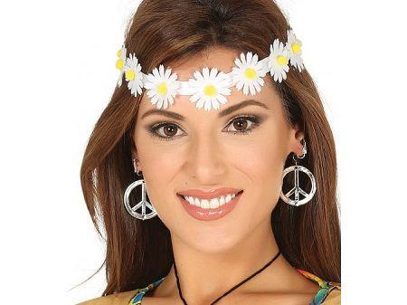 Guirca Virágos hajpánt - fehér