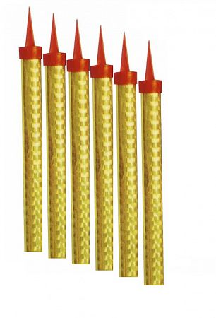 HeliumKing Torta tűzijátékok - arany 15 cm / 6 db