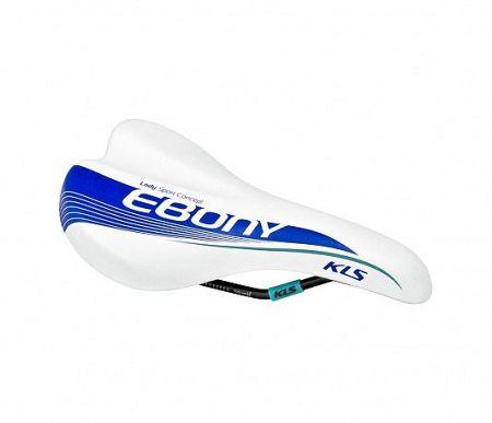 Kerékpár nyereg KLS EBONY, white