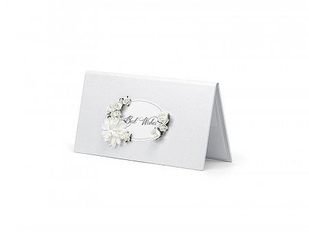 PartyDeco Best Wishes fehér pénzgyűjtő doboz
