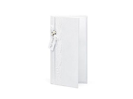 PartyDeco Fehér pénzgyűjtő doboz csipkével