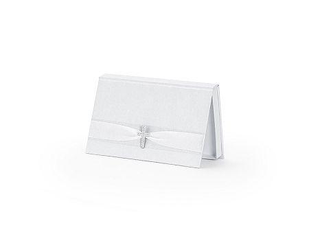 PartyDeco Fehér pénzgyűjtő doboz kereszttel